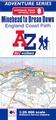 Wandelatlas Adventure Atlas Minehead to Brean Down - England Coast Path | A-Z Map Company