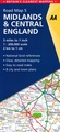 Wegenkaart - landkaart 5 Road Map Britain  Midlands & Central England | AA