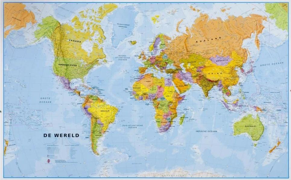 Wereldkaart 66p zvl politiek 136 x 86 cm maps international wereldkaart 66p zvl politiek 136 x 86 cm maps international thecheapjerseys Images
