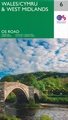 Wegenkaart - landkaart 6 OS Road Map Wales & West Midlands | Ordnance Survey