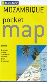 Wegenkaart - landkaart Pocket map Mozambique | MapStudio