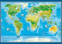 Young Explorer's World Map 140 x 100cm
