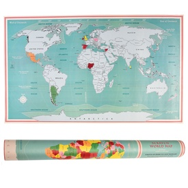 Scratch Map Vintage World Map | Rex London