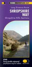 Wandelkaart Shropshire Way | Harvey Maps