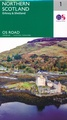 Wegenkaart - landkaart 1 OS Road Map Northern Scotland, Orkney & Shetland | Ordnance Survey