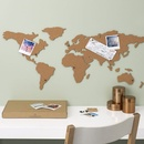 Wereldkaart van kurk Cork Board Map | Luckies