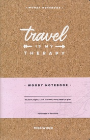 Reisdagboek Notebook Travel is my Therapy | Miss Wood