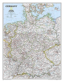 Wandkaart Germany – Duitsland, 58 x 76 cm | National Geographic