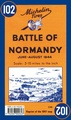 Historische Kaart 102 Battle of Normandy 1944  | Michelin