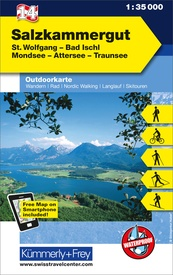 Wandelkaart 14 Outdoorkarte AT Salzkammergut | Kümmerly & Frey
