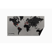 Pin world wall map - pin wereldkaart zwart small