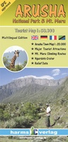 Wandelkaart Arusha national park Tourist map | Harms Verlag