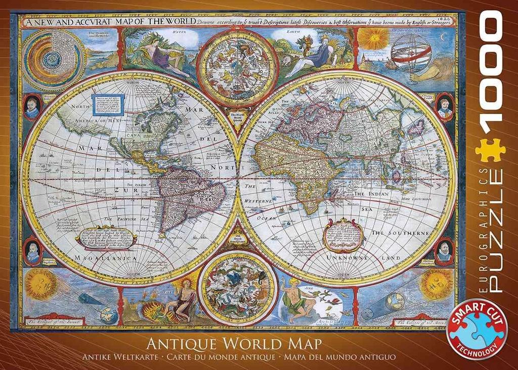 Puzzel wereldkaart vintage (1000 stukjes) cover