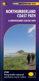Wandelkaart Northumberland Coast Path and Berwickshire Coastal Path | Harvey Maps