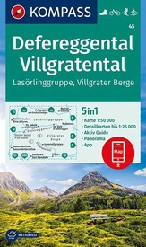 Wandelkaart 45 Defereggental - Villgratental | Kompass