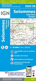 Topografische kaart - Wandelkaart 2020SB Oucques - Selommes - St-Ouen | IGN - Institut Géographique National