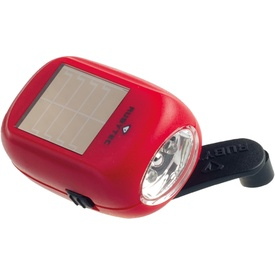 Zaklamp Kao Baby Swing Solar Flashlight Rood | Rubytec