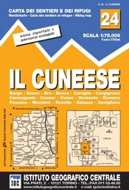 Wandelkaart 24 Il Cuneese - Cuneo | IGC - Istituto Geografico Centrale