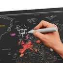 Scratch Map Chalk - Kraskaart met krijtpen | Luckies