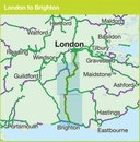 Fietskaart Cycle Map London to Brighton | Sustrans