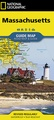 Wegenkaart - landkaart Guide Map Massachusetts | National Geographic
