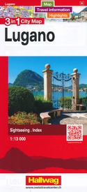 Stadsplattegrond 3 in 1 city map Lugano  | Hallwag