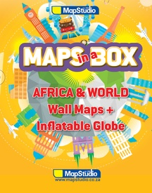 Opblaasbare wereldbol - globe Maps in a Box - Africa & World | MapStudio