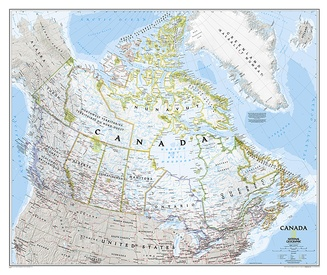 Wandkaart Canada, 97 x 82 cm | National Geographic