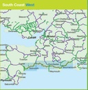 Fietskaart Cycle Map South Coast West | Sustrans