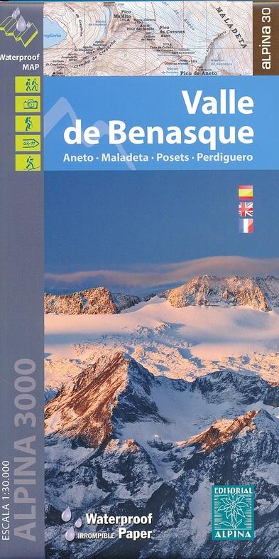 Wandelkaart 18 Valle De Benasque Editorial Alpina 9788480905749 Reisboekwinkel De Zwerver