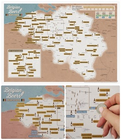 Belgische Bierkaart Collect & Scratch | Maps International