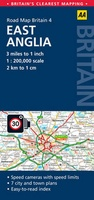 04 Wegenkaart - Road Map Britain 4 East Anglia (Landkaart East Anglia - oost Engeland) | AA Publishing