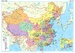 Wandkaart China – political, 95 x 69 cm | Gizi Map