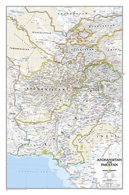 Wandkaart Afghanistan & Pakistan, 55 x 83 cm | National Geographic
