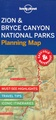 Wegenkaart - landkaart Planning Map Zion - Bryce Canyon National Parks | Lonely Planet
