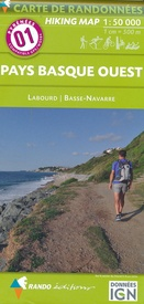 Wandelkaart 01 Pays Basque Ouest | Rando Editions