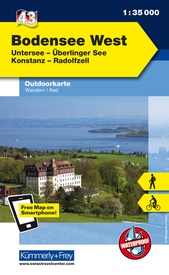 Wandelkaart 43 Outdoorkarte Bodensee West | Kümmerly & Frey