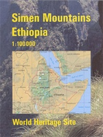 Wandelkaart Simen Mountains Trekking map Ethiopië