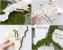 Wereldkaart - Legpuzzel Wooden World Map Large | Wooden City