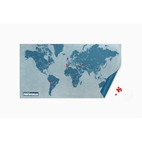 Pin world wall map - pin wereldkaart blauw small