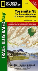 Wandelkaart - Topografische kaart 308 Yosemite NE - Tuolumne Meadows and Hoover Wilderness | National Geographic
