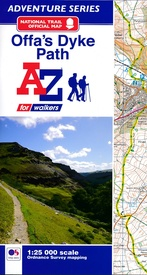 Wandelkaart Adventure Atlas Offa's Dyke Path | A-Z Map Company