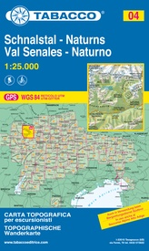 Wandelkaart 004 Schnalstal - Naturns - Val Senales - Naturno  | Tabacco Editrice