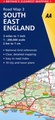 Wegenkaart - landkaart 3 Road Map Britain  South East England | AA