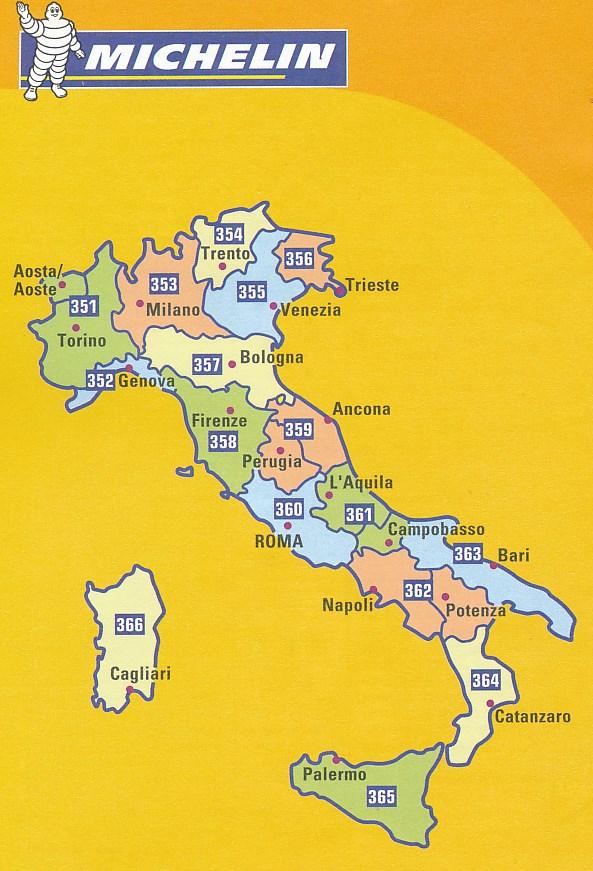 Wegenkaart Landkaart 353 Lombardije Lombardia Michelin