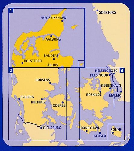 Wegenkaart Landkaart 2 Midden En Zuid Jutland Midt Sydjylland