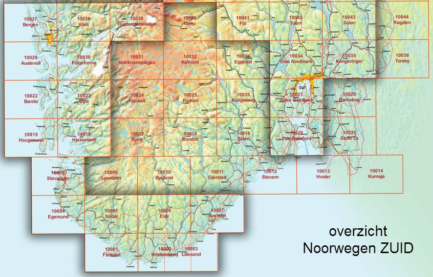 Topografische Kaarten Noorwegen Reisboekwinkel De Zwerver