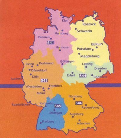 Wegenkaart Landkaart 545 Baden Wurtemberg Duitsland Zuid West