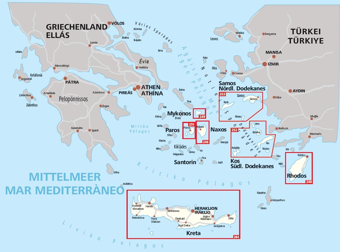 alle eilanden van griekenland