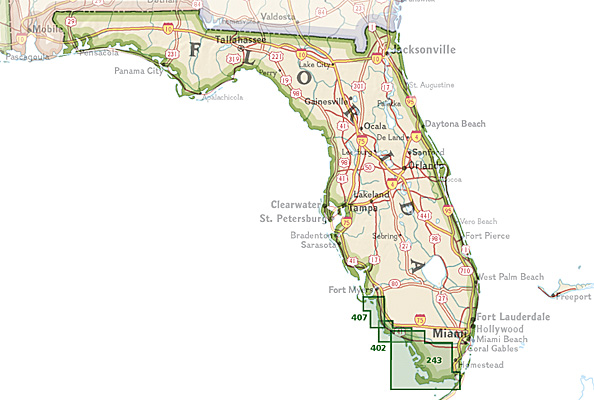 Overzicht Wandelkaarten Florida Trails Illustrated National Geographic